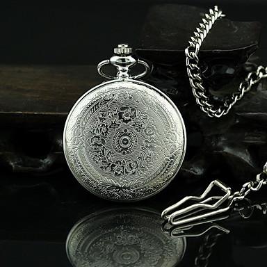 Карманные часы на цепочке с крышкой купить из серебра