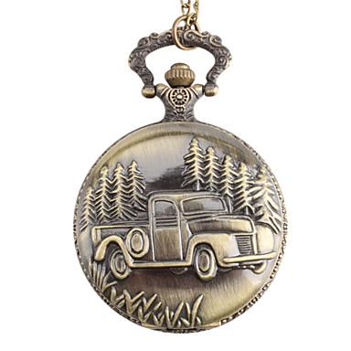 265affbb Карманные часы на цепочке автомобиль карманные кварцевые часы (бронза)