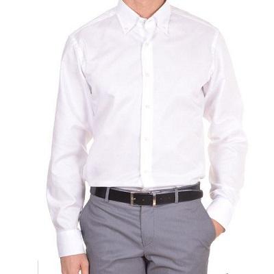 0e2b5ea04d8e883 Мужская рубашка классическая Bagutta White оптом - Мужские рубашки